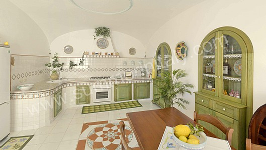 Villa ridente casa vacanza in praiano costiera amalfitana italy - Cucine per case al mare ...