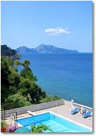 A close view of Capri from Villa Zefiro, luxury villa near Sorrento, Italy