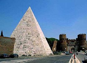 Pyramid In Rome Tourist Attraction In Rome And Latium Italy
