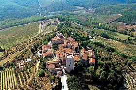 Radda in chianti town in tuscany italy