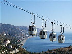 taormina cable cars public transportation in sicily italy