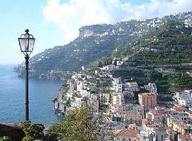 Minori Town In Amalfi Coast Italy