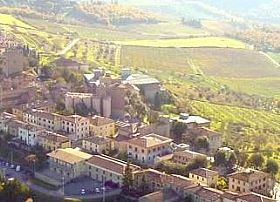 Castellina In Chianti Town In Tuscany Italy
