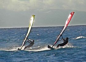 Windsurfing in Campania