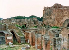 Ostia Antica Town In Rome And Latium Italy