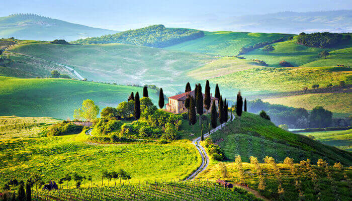Browse villas and apartments in Tuscany
